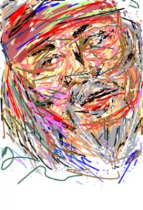 〈BOSSの似顔絵〉